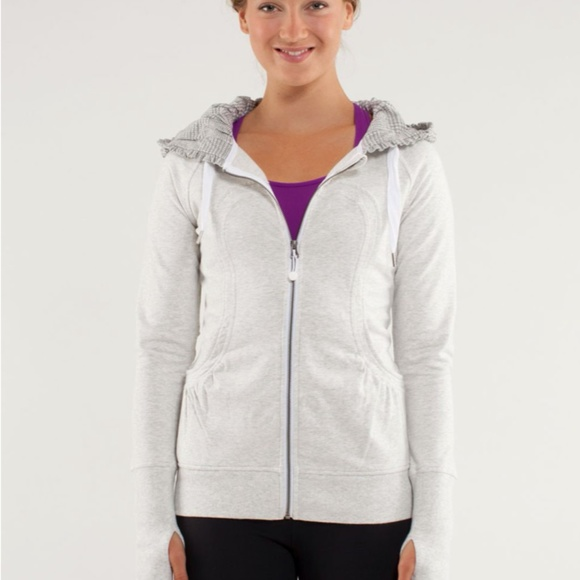 Lululemon Back To Class Checked Hood Zip-Up Jacket